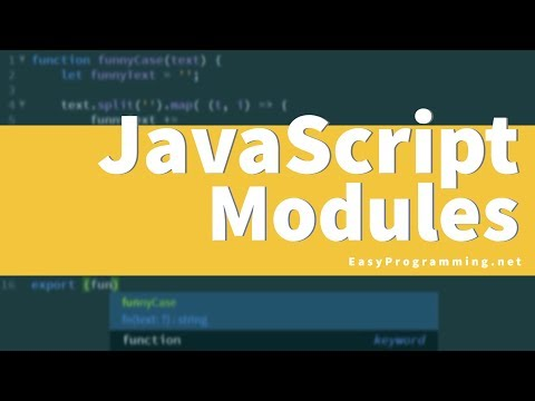 Easy JavaScript - Brief Intro to JS Modules (56) thumbnail
