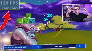 Fortnite added 120FPS on MOBILE!! (more frames than CONSOLE)