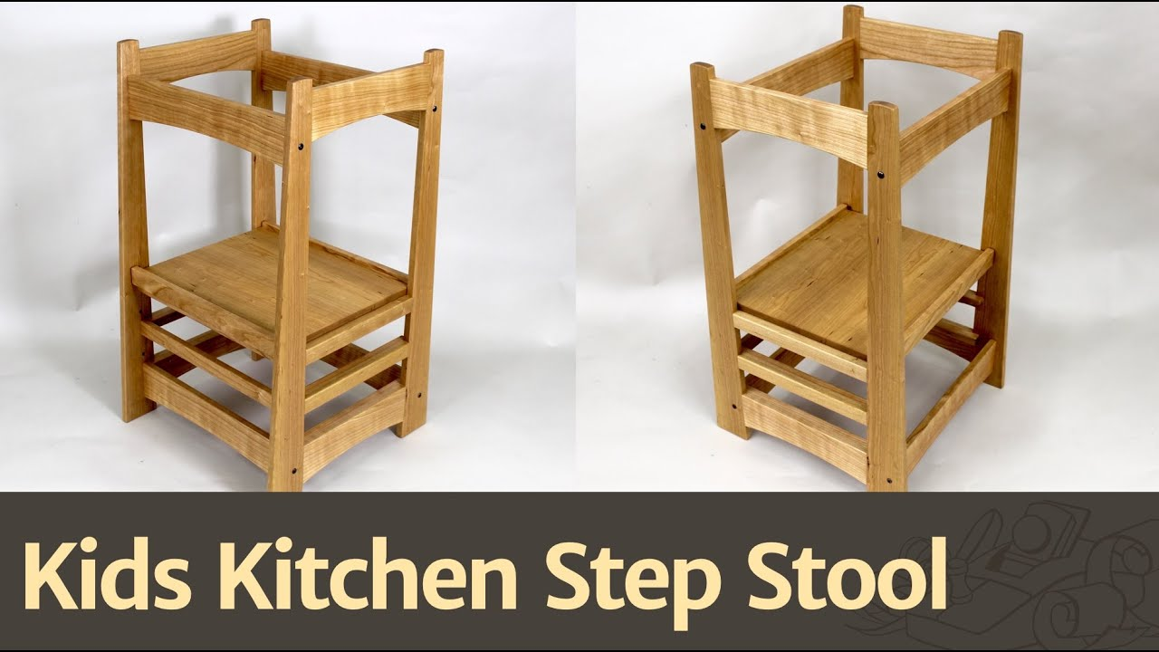 Kids Wooden Stool 236 Kids Kitchen Step Stool Youtube