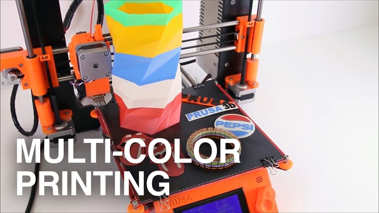 MultiColor 3D Printing Howto  YouTube