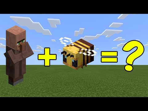 I Combined A Villager And A Bee In Minecraft - Here's WHAT Happened...