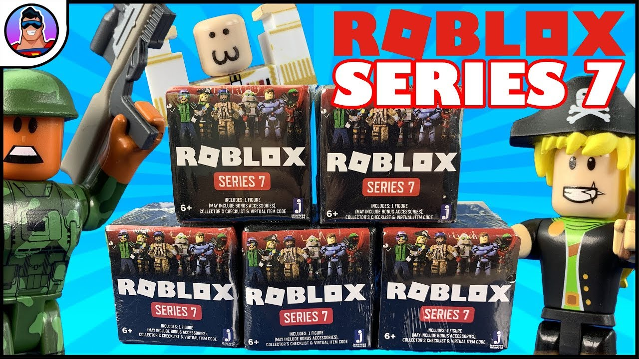 Roblox Series 7 Black Boxes Unboxing Virtual Items Figure