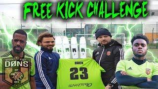 DONS vs PRO FOOTBALLER | Free Kick Challenge RP7 vs MONTS vs BRADLEY DACK