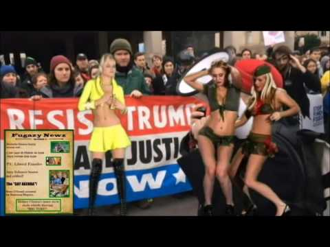 Hot Russian Bikini Babes own Snow Flake Protest Rally