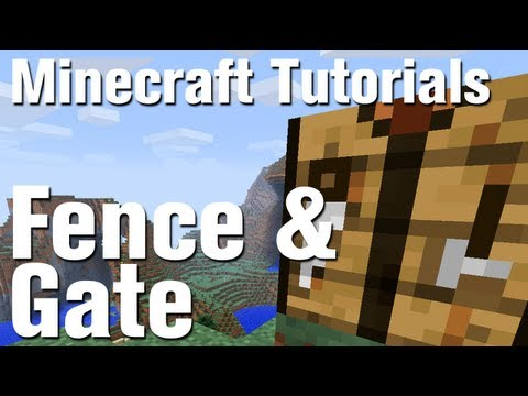 Minecraft Tutorial How To Make Fence And Fence Gate In Minecraft