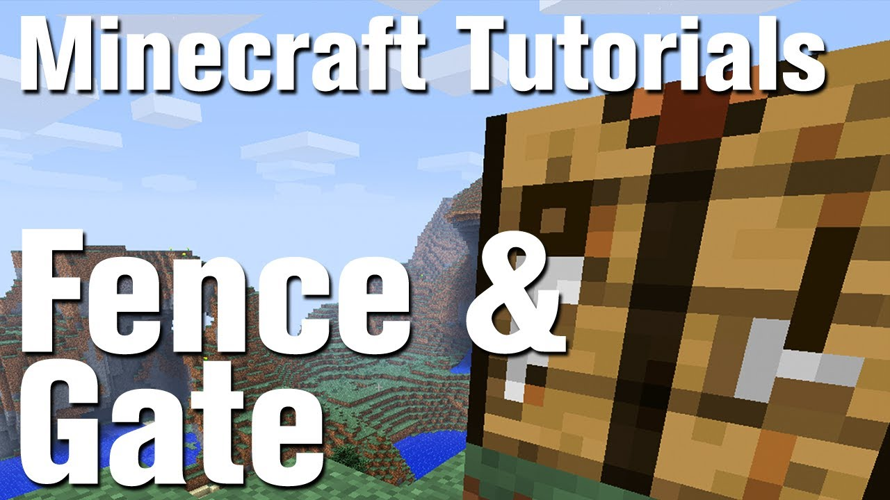 stone fence gate minecraft. minecraft tutorial how to make a fence and gate in youtube stone o