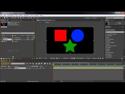 60 Second After Effects Tutorial : Using Precomps to Group Objects -HD-