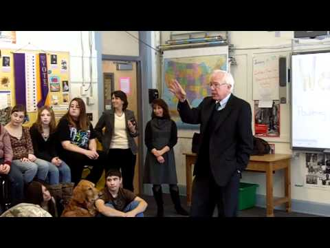 Bernie Sanders at Poultney High School