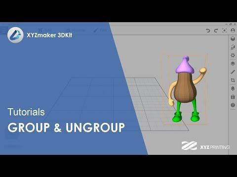 XYZmaker 3DKit Tutorials l Group & Ungroup - YouTube
