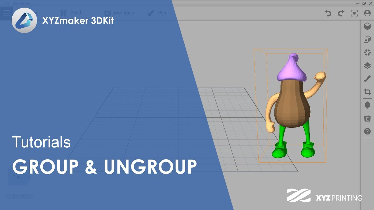 XYZmaker 3DKit Tutorials l Group & Ungroup