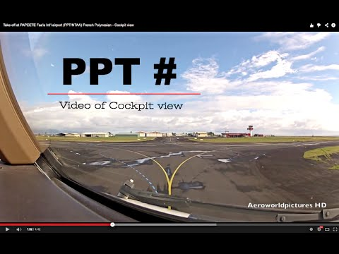 Take-off at PAPEETE Faa'a Int'l airport (PPT/NTAA) French Po