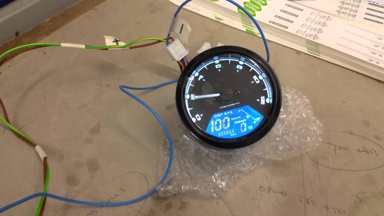 universal motorcycle speedometer [ 1280 x 720 Pixel ]