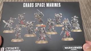 Chaos Space Marines   Unboxing (wh40k)