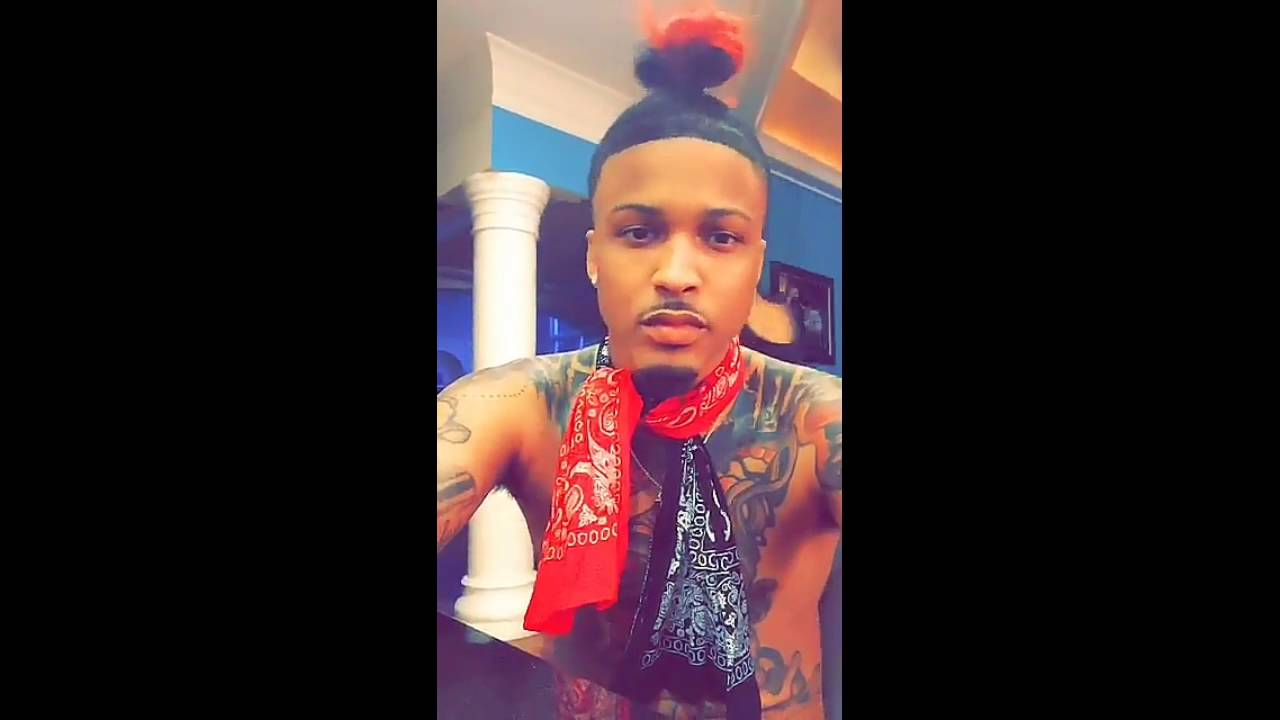 August Alsina New Hair Style Snapchat Video  July 25
