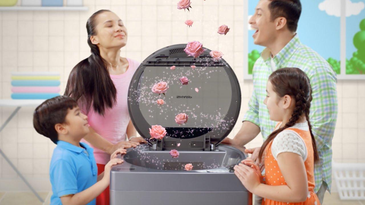 Sharp Holeless Tub Washing Machine 60sec - YouTube