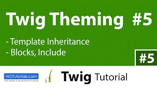 Twig - How To Use Template Inheritance (5/6)