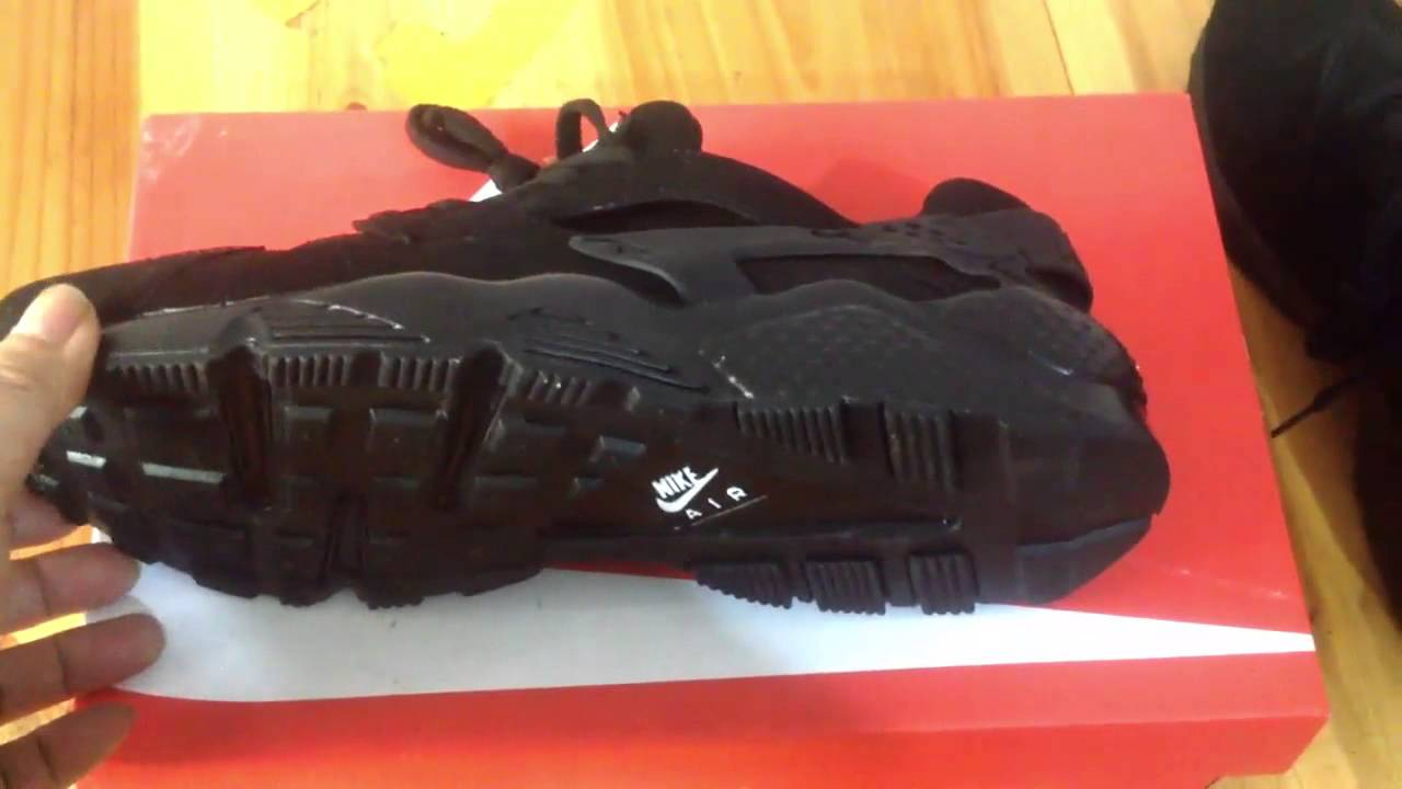 11c863a744b9 Nike Air Huarache Triple Black Trainers Review Aliexpress - YouTube