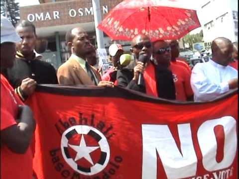 S'bu Zikode Speaks at the March on Mlaba (part 2)