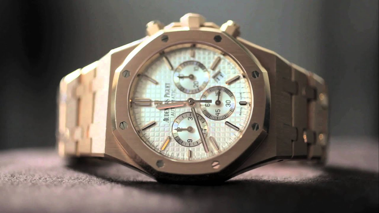 Rose Gold Audemars Piguet Royal Oak Chronograph replica