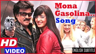 Lingaa Tamil Movie Songs HD | Mona Gasolina Song HD | Rajinikanth | Anushka Shetty | AR Rahman