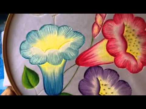 Pintura en tela carpeta pirograbada 4 con cony youtube - Pintura en tela motivos navidenos ...