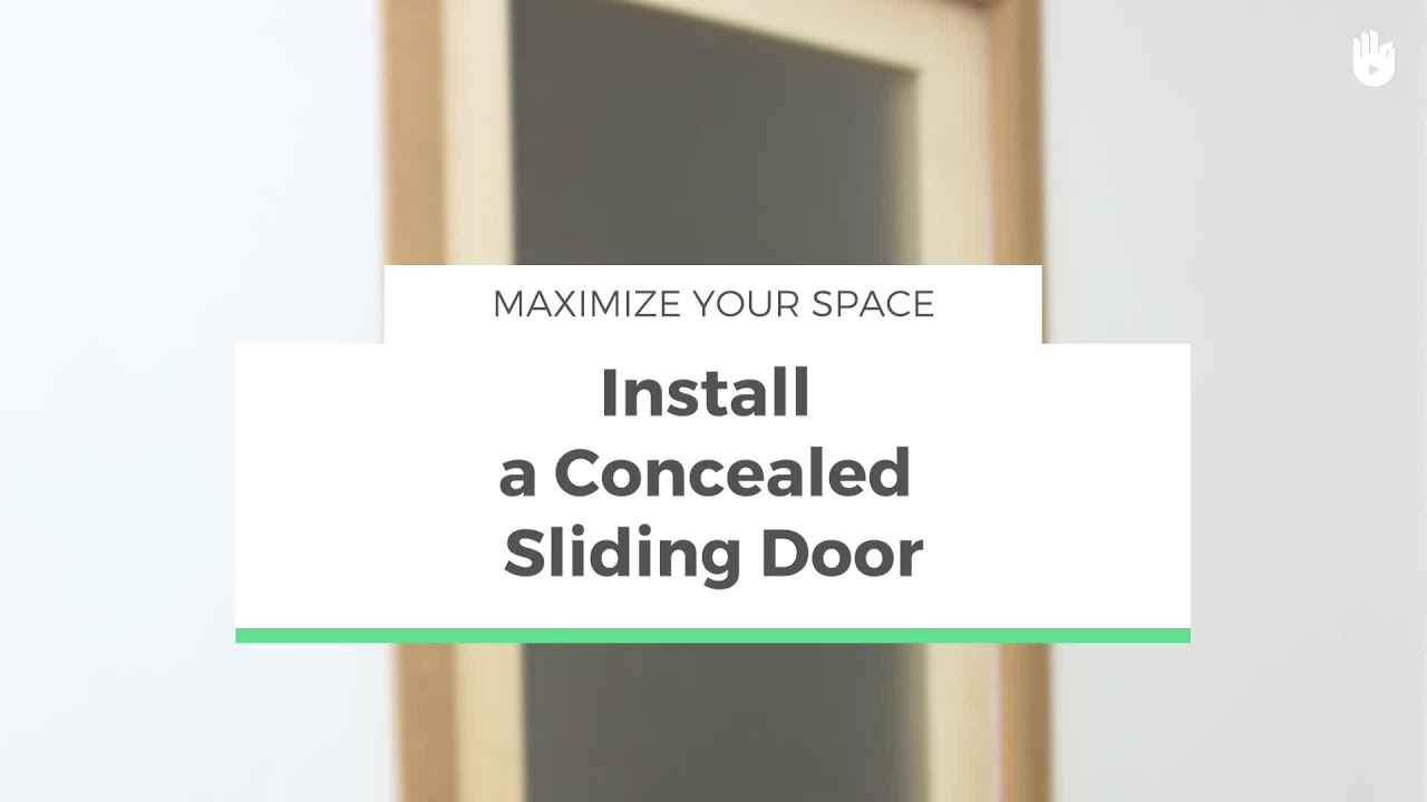 How To Install A Concealed Sliding Door Maximize Your Space Youtube
