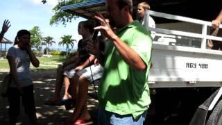 Mike Bailey praying over Samal Island
