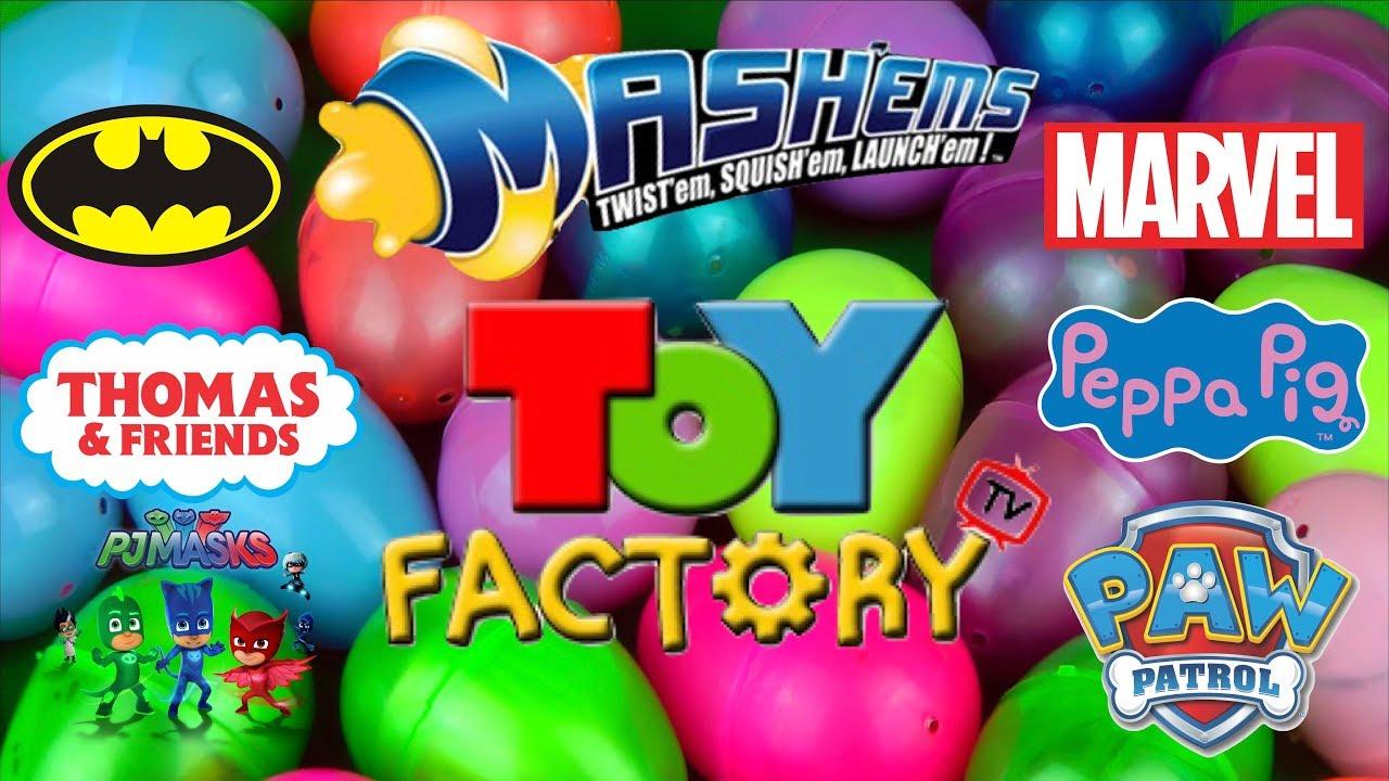 Mega Mashems Surprise Egg Video for Children Paw Patrol Peppa Pig PJ Masks Toy Factory TV