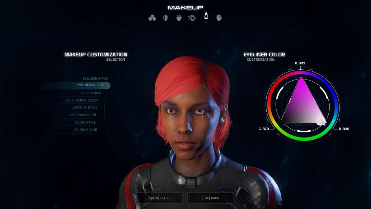 Mass Effect: Andromeda character creator video | PC Gamer