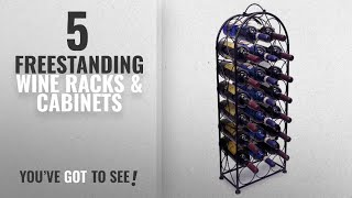 Top 10 Freestanding Wine Racks & Cabinets [2018]: Sorbus Wine Rack Stand Bordeaux Chateau Style -