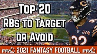 Top 20 Running Backs to Target or Avoid!   2021 Fantasy Football Advice screenshot 1