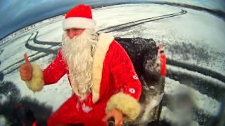 Поздравление с Новым Годом и танцы Деда Мороза
