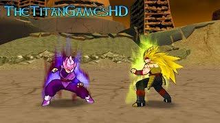 Dragon Ball Z Shin Budokai 2 Mods - Black Goku Ssj Rose Vs Bardock Xeno Ssj3