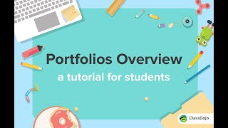 How students post to their Portfolio on ClassDojo 🗂
