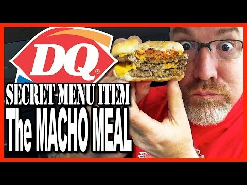 Dairy Queen ★ Secret Menu Item ★ Macho Meal Challenge 2400 Calories
