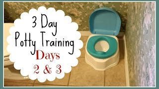 3 Day Potty Training: Days 2 & 3 (w/ 2 Year Old Boy)