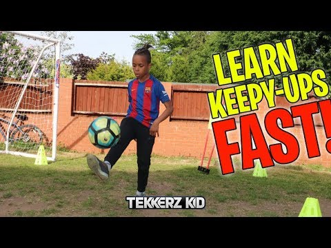 Learn How to do More Keepy Ups FAST!! | Football skills for beginners