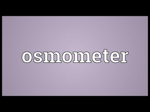 Header of osmometer
