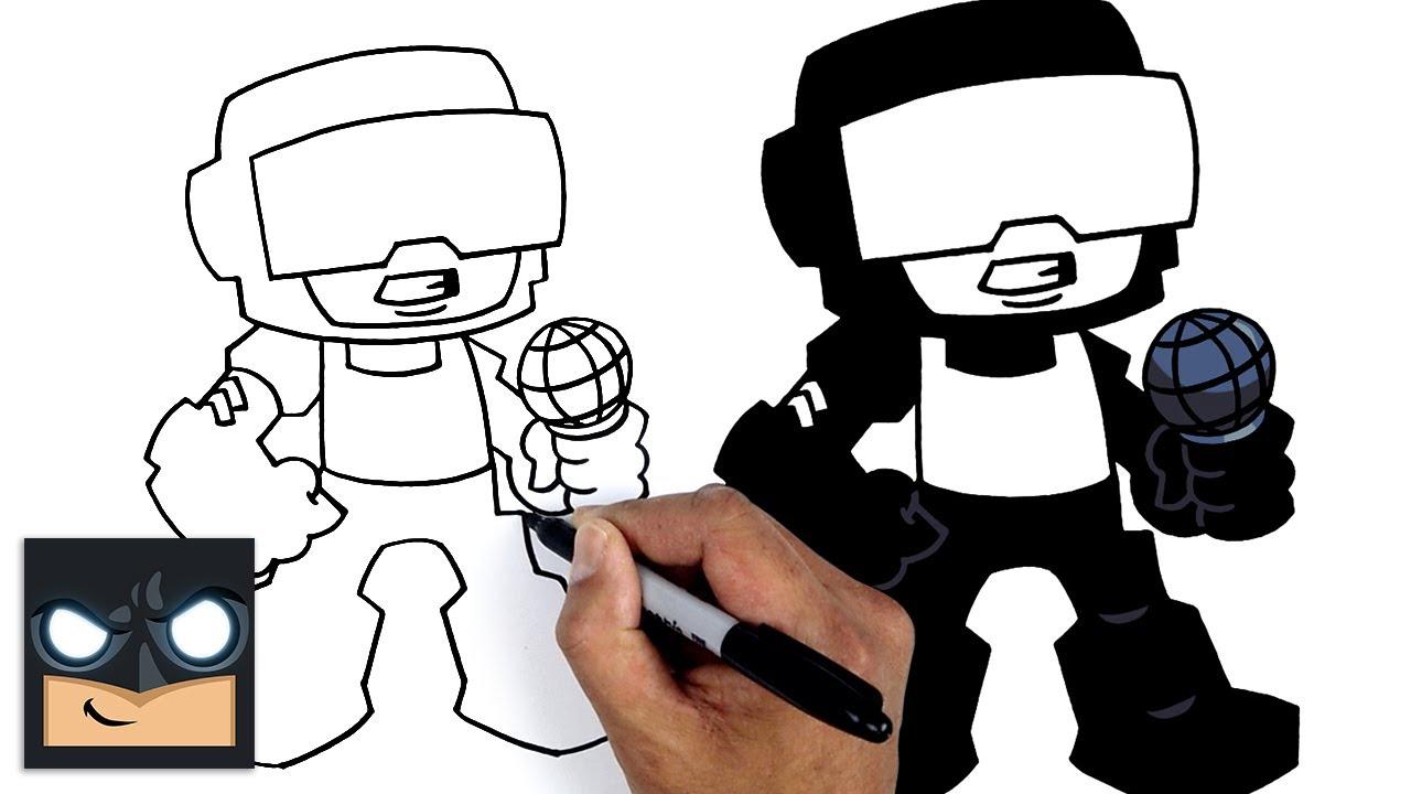 How To Draw Tankman | Friday Night Funkin