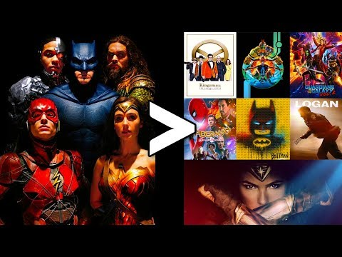 Where Does Justice League Rank Against 2017 All The Comic Book Movies?