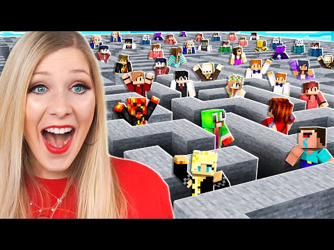 I Trapped 100 Players in an IMPOSSIBLE Maze! - Minecraft
