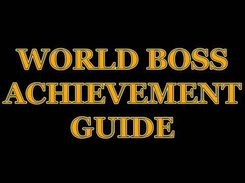 TERA World Boss Guide For Achievements