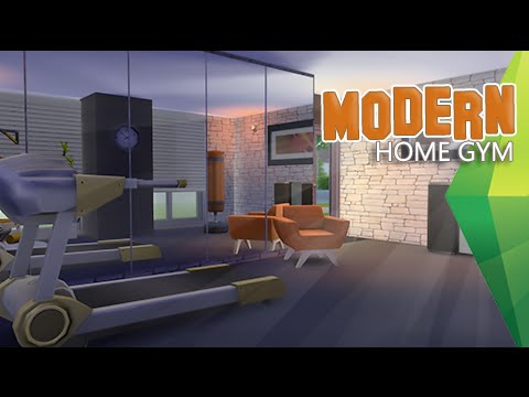 The sims 4 room build modern home gym sped up youtube