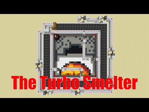 Minecraft Super Smelter | The Turbo Smelter [Minecraft 1.12 Tutorial]