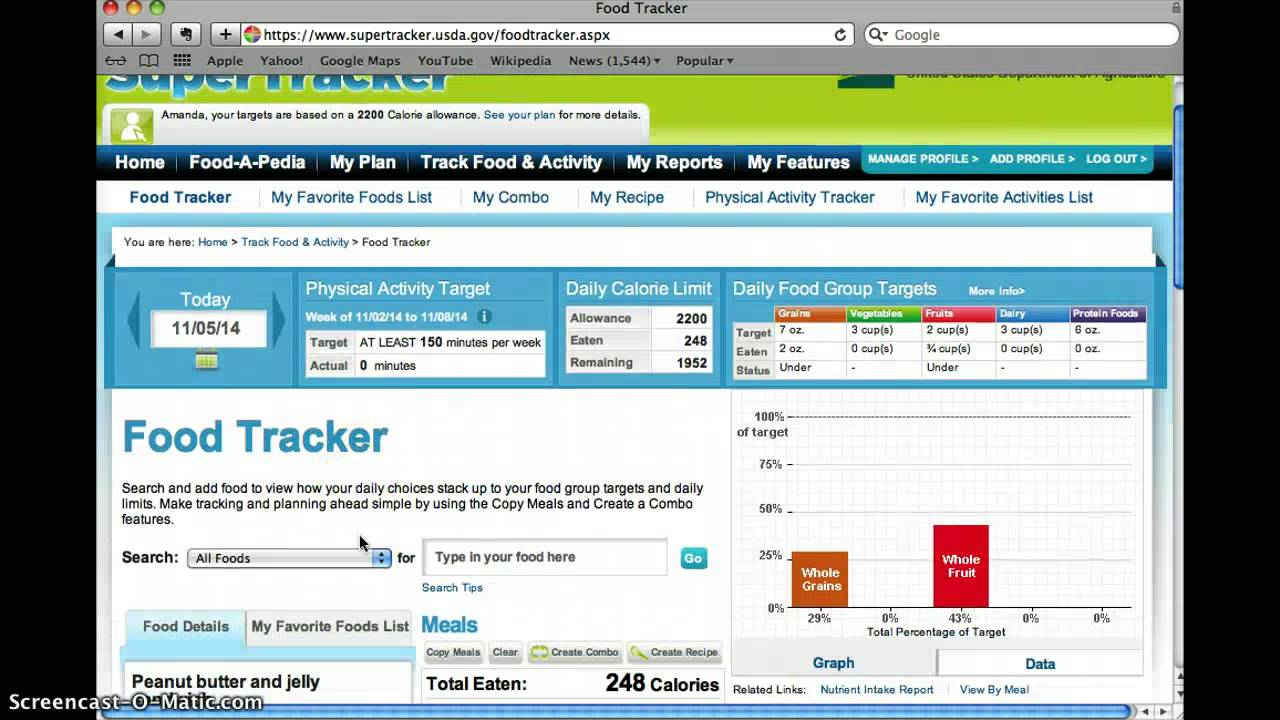 How To Log Food On Supertracker Youtube
