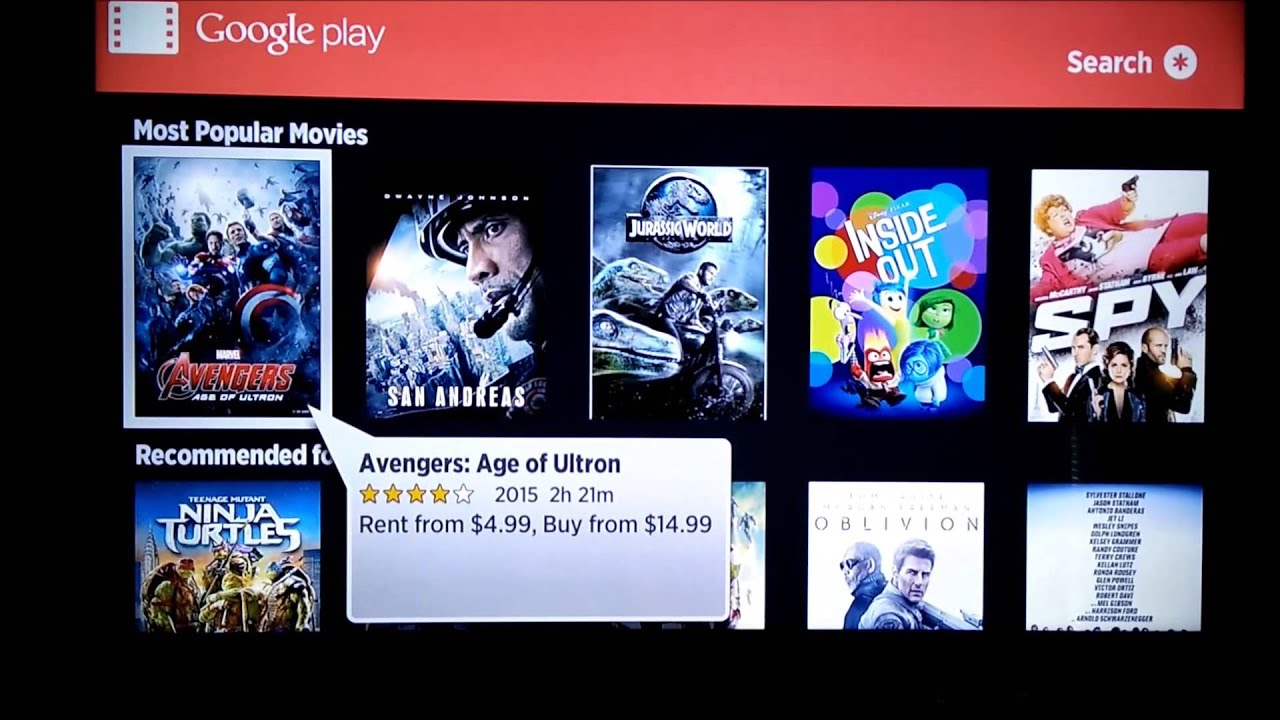Image result for google play movies & tv on roku