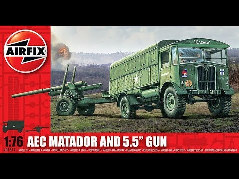 Airfix Matador and 5 5 inch Gun final Reveal clip