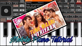 Tune mari entry| songs from gunday movie| Instrumental Mobile Piano l jkcreationmfe