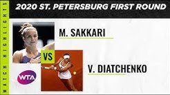 Maria Sakkari vs. Vitalia Diatchenko | 2020 St. Petersburg First Round | WTA Highlights