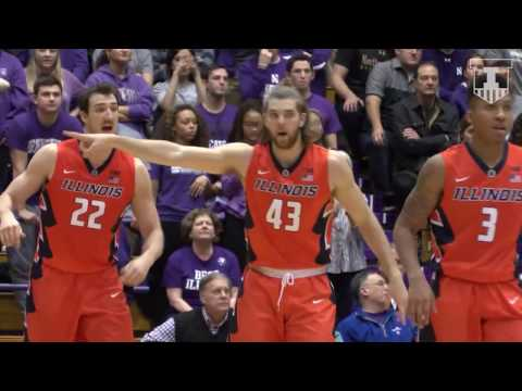 Illinois Basketball Highlights at Northwestern | 2/7/17